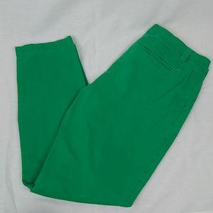 Gap Kelly Green Khakis 10 Straight Leg Pants